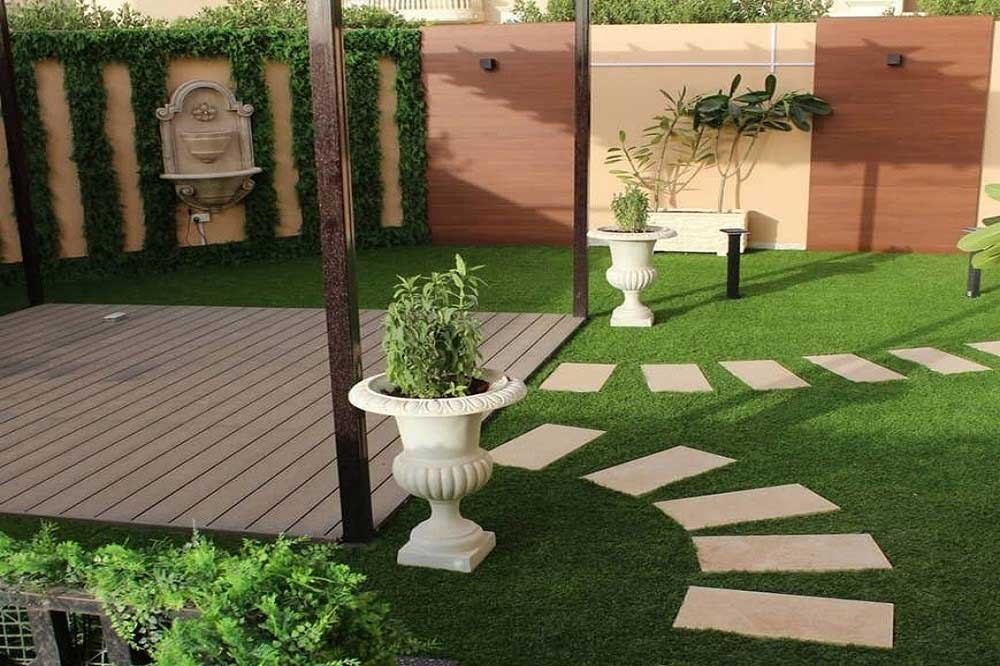 محوطه سازی ویلاهای کوچک با پوشش گیاهی