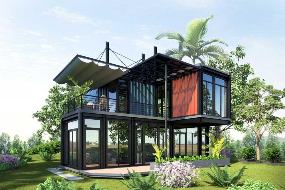 ساخت خانه ویلایی با کانتینر