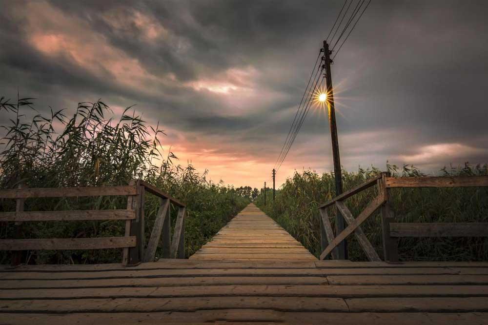 جاهای دیدنی زیباکنار پل چوبی کیانشهر