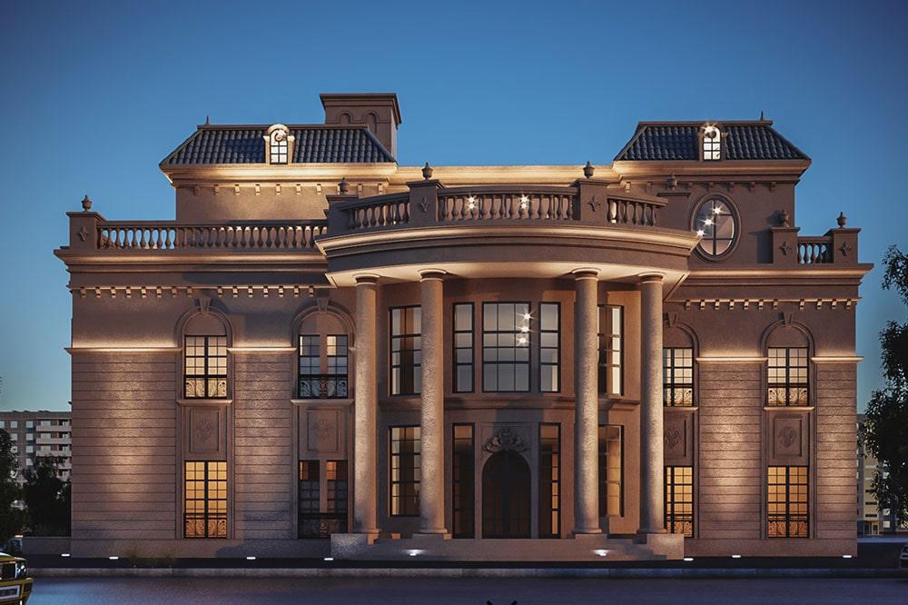 ویلا کلاسیک یک طبقه