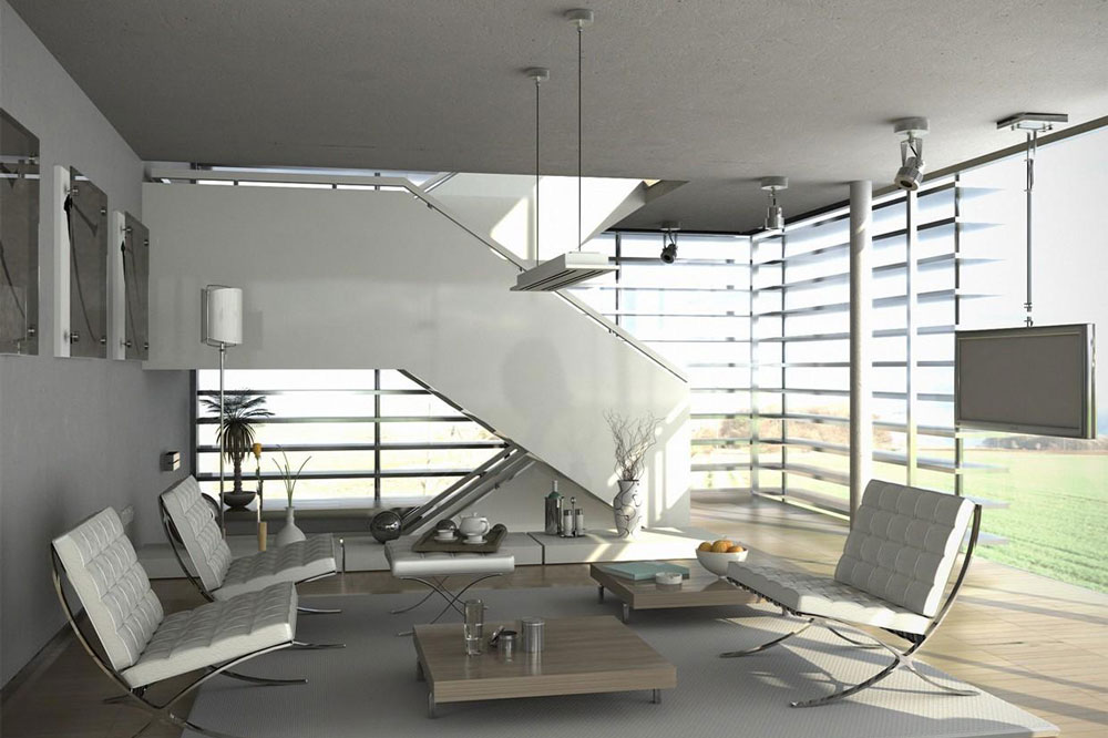 طراحی داخلی ویلای تریبلکس